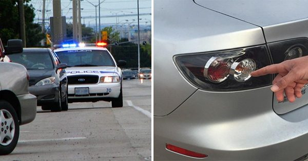 Why Cops Touch A Car's Tail Light After Pulling It Over