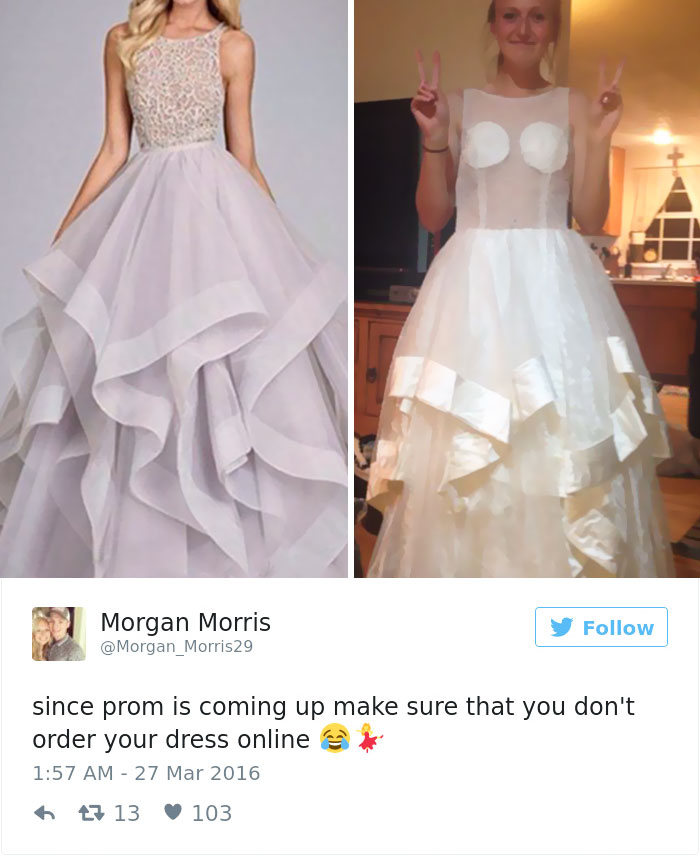 Teen Girls Share Hilarious Prom Dresses They Regret Buying Online   HYGO