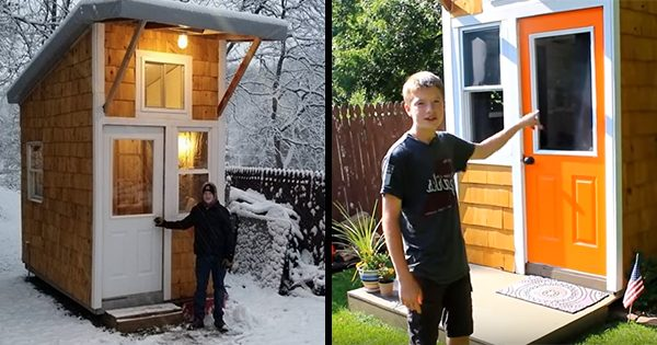 This amazing 13-year-old built his own tiny house for only $1,500